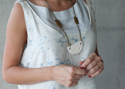 Brass + Paper Necklace