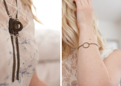 Brass Necklace & Bracelet