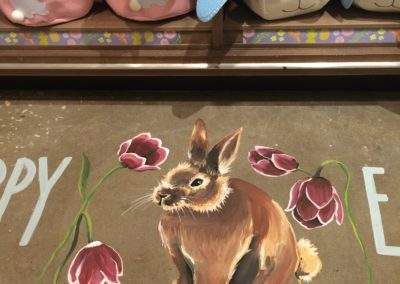 Easter Floor Chalk Detail