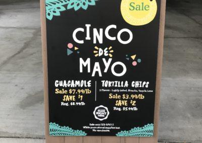 Cinco De Mayo A-Frame Chalk