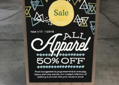 Apparel Sale A-Frame Chalk