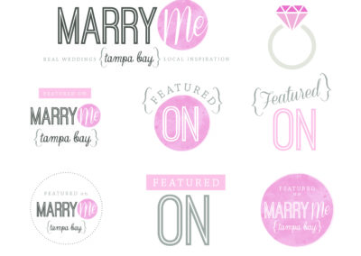 Marry Me Tampa Bay Logo Designs
