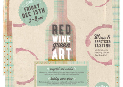 Red Wine, Green Art Ad in Creative Loafing Newspaper
